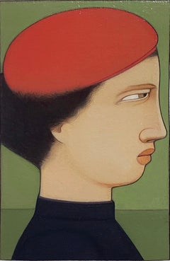 Portrait: Woman in Red Cap