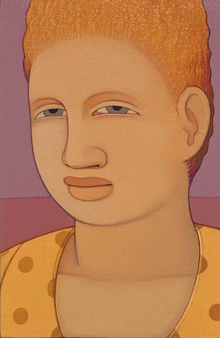 Andrew Stevovich Figurative Painting - Portrait: Yellow Dress