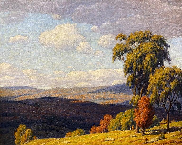 Autumn Landscape - Painting by Andrew Thomas Schwartz