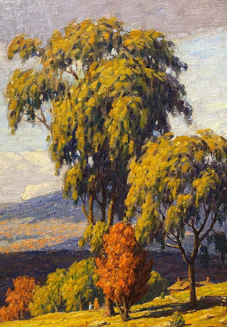 Autumn Landscape - American Impressionist Painting by Andrew Thomas Schwartz
