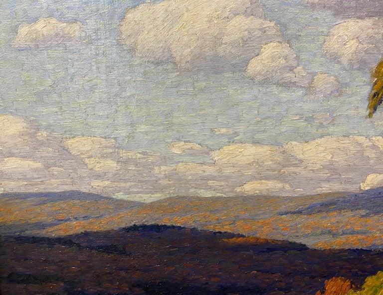 Autumn Landscape - Brown Landscape Painting by Andrew Thomas Schwartz