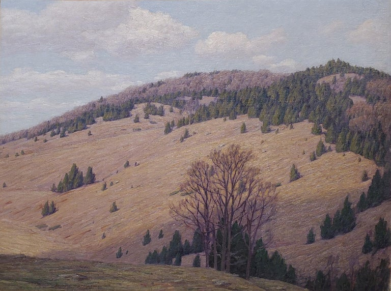 Mountain Landscape signed by Andrew T. Schwartz - Painting by Andrew Thomas Schwartz