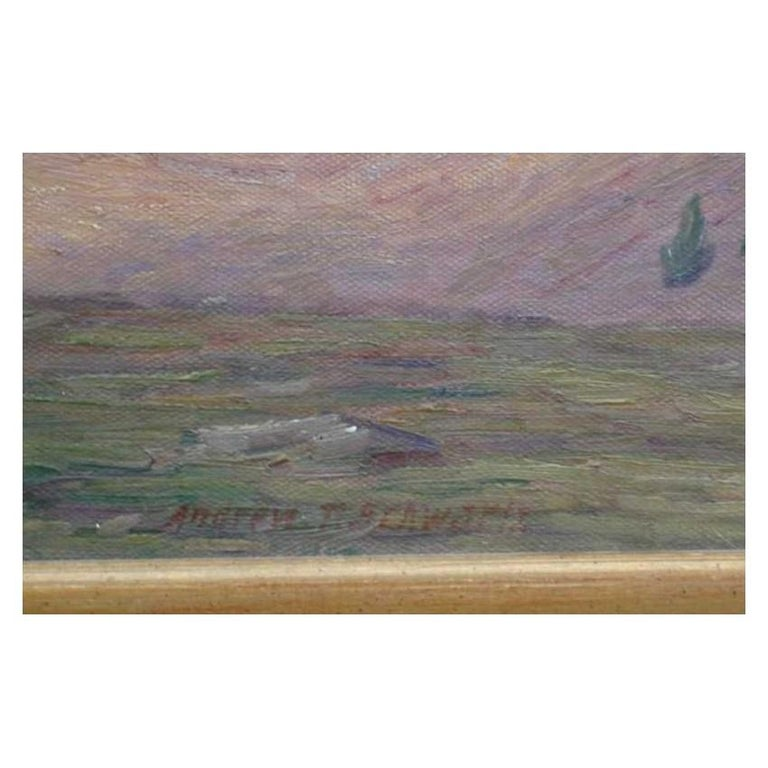 Mountain Landscape signed by Andrew T. Schwartz - American Impressionist Painting by Andrew Thomas Schwartz