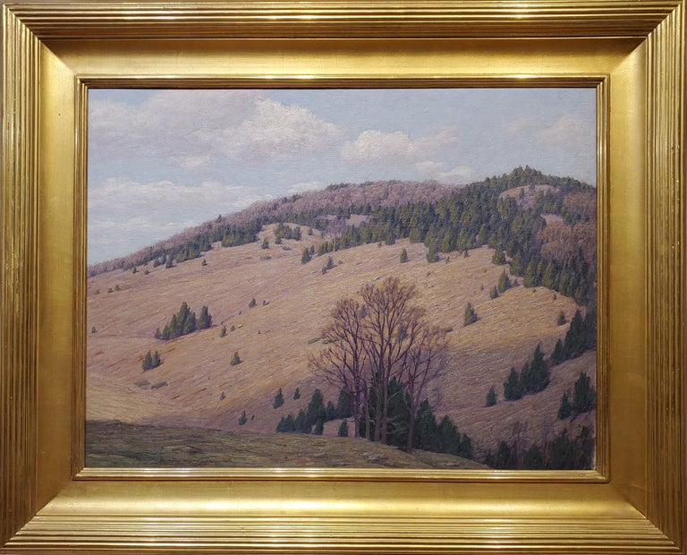 Andrew Thomas Schwartz Landscape Painting - Mountain Landscape signed by Andrew T. Schwartz