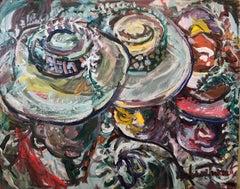 African American Realist Painting 3 Ladies Folk Art Outsider Art Andrew Turner
