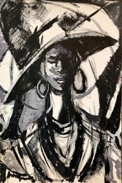 African American Realist Painting Sunday Hat Folk Art Outsider Art Andrew Turner