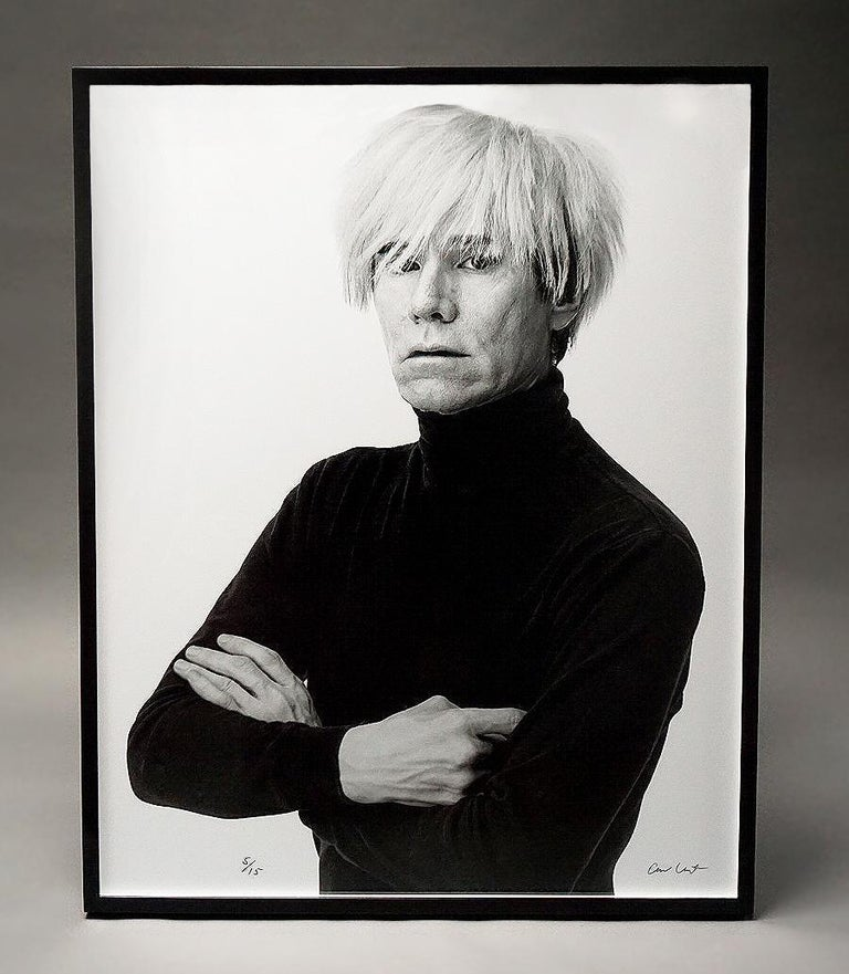 "Artwork Details:  ""Andy Warhol"" (1985), Photographic print on archival paper, Custom framed measurements are approximately: 52 x 42 in. / 132 x 107 cm. Edition of only 15 pieces.   About the Artwork:  Unangst has been one of the leading commercial"
