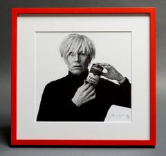 Andrew Unangst, Andy Warhol with Black and White Soup Can (1985)