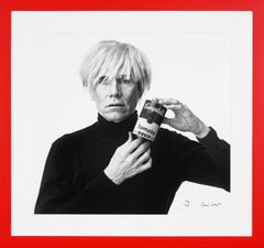 Archival 'Andy Warhol with Campbell's Soup' in Black & White, 2020