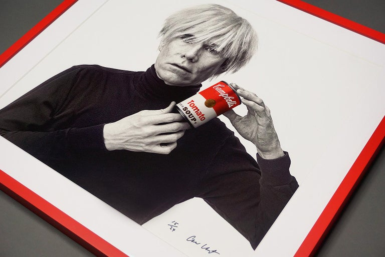 Andrew Unangst, Andy Warhol with Red Campbell's Soup Can, 1985 For Sale 3