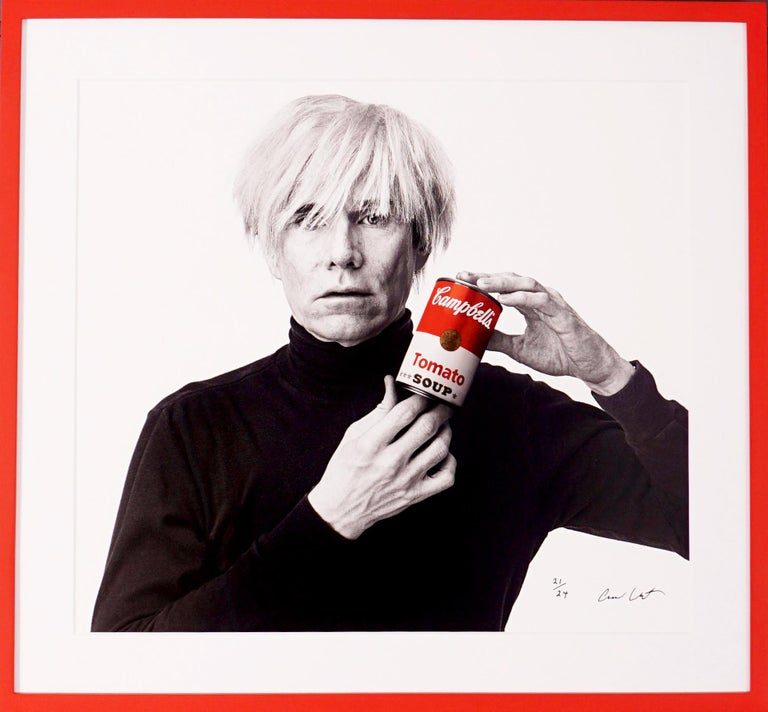 Andrew Unangst, Andy Warhol with Red Campbell's Soup Can, 1985 - Photograph by Andrew Unangst
