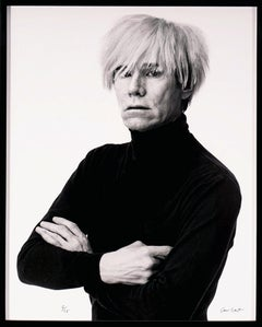 Andrew Unangst, Portrait of Andy Warhol in B/W (1985/2017)