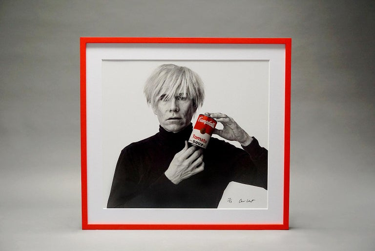 Andrew Unangst, Warhol with Campbell's Soup Can (1985) - Contemporary Photograph by Andrew Unangst