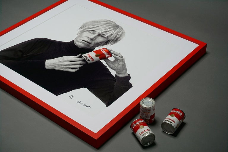 Andrew Unangst, Warhol with Campbell's Soup Can (1985) For Sale 1
