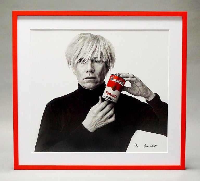 Andrew Unangst, Warhol with Campbell's Soup Can (1985) - Photograph by Andrew Unangst