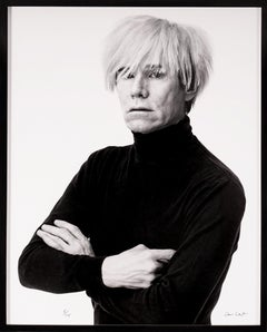 Archival Portrait of Andy Warhol, Black and White, 1985/2017