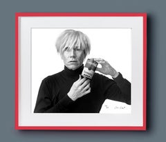 Warhol with Campbell's Soup Can