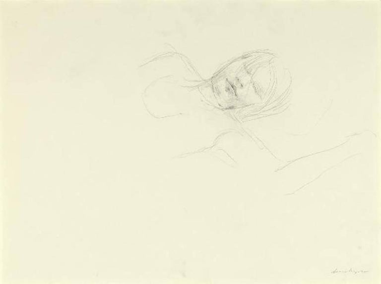 Andrew Wyeth Figurative Art - Asleep Study (2)
