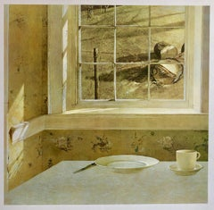 Vintage Andrew Wyeth Abrams Art Print Americana Offset Lithograph from Holland