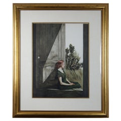 "Andrew Wyeth ""Christina Olson"" Collotype Print 1956 Realism Woman Doorway Framed"