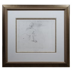 """Andrew Wyeth """"Christina's World"""" Framed Collotype Print 1976 Limited Edition"""