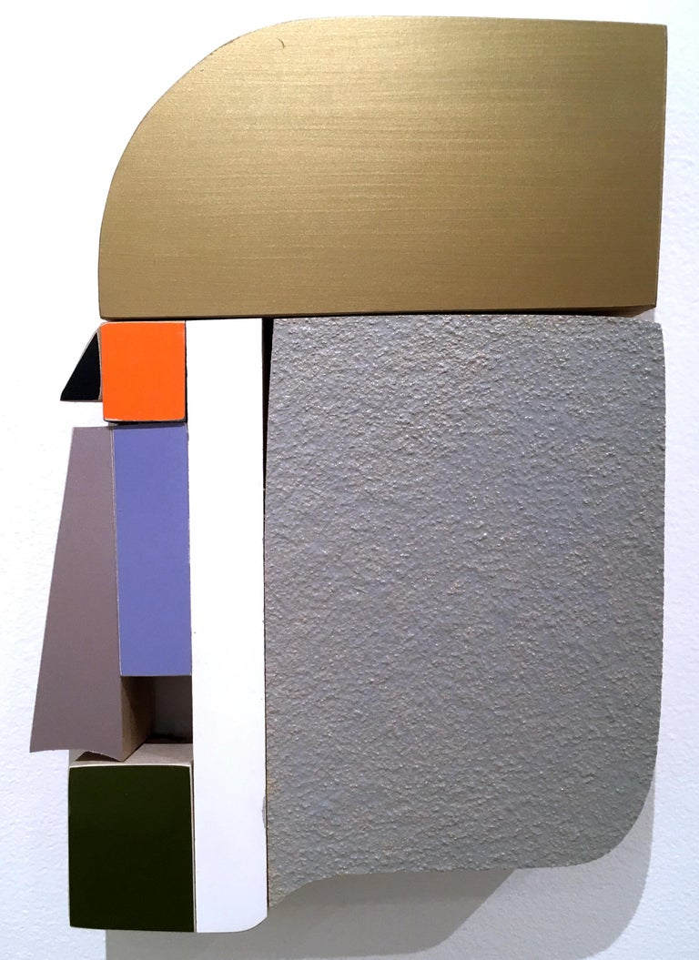 Profile - Brown Abstract Sculpture by Andrew Zimmerman