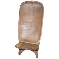 Andrianna Shamaris African Hand Carved Chair