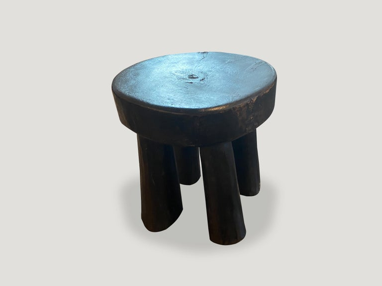 Tribal Andrianna Shamaris African Wood Side Table or Stool