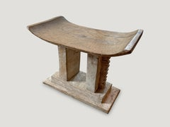 Andrianna Shamaris African Wood Wabi-Sabi Ashanti Stool