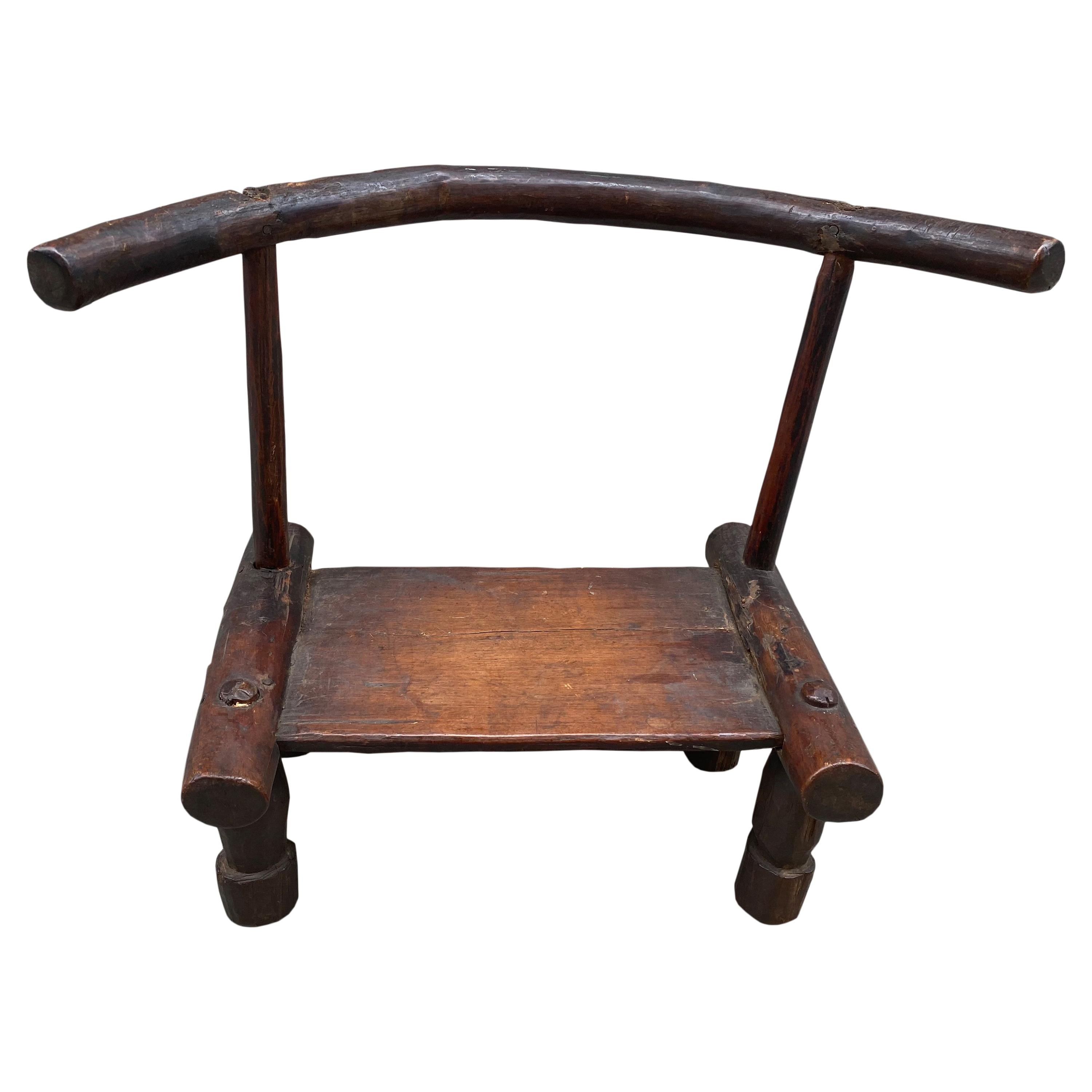 Andrianna Shamaris African Wooden Chair or Side Table