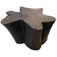 Andrianna Shamaris Amorphous Charred Teak Wood Coffee Table