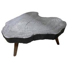 Andrianna Shamaris Amorphous Charred Wood Coffee Table