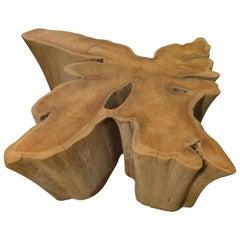 Andrianna Shamaris Amorphous Reclaimed Teak Wood Coffee Table
