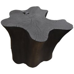 Andrianna Shamaris Amorphous Reclaimed Teak Wood Side Table