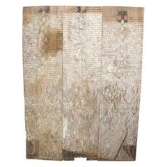 Andrianna Shamaris Ancient Hand Carved Panel