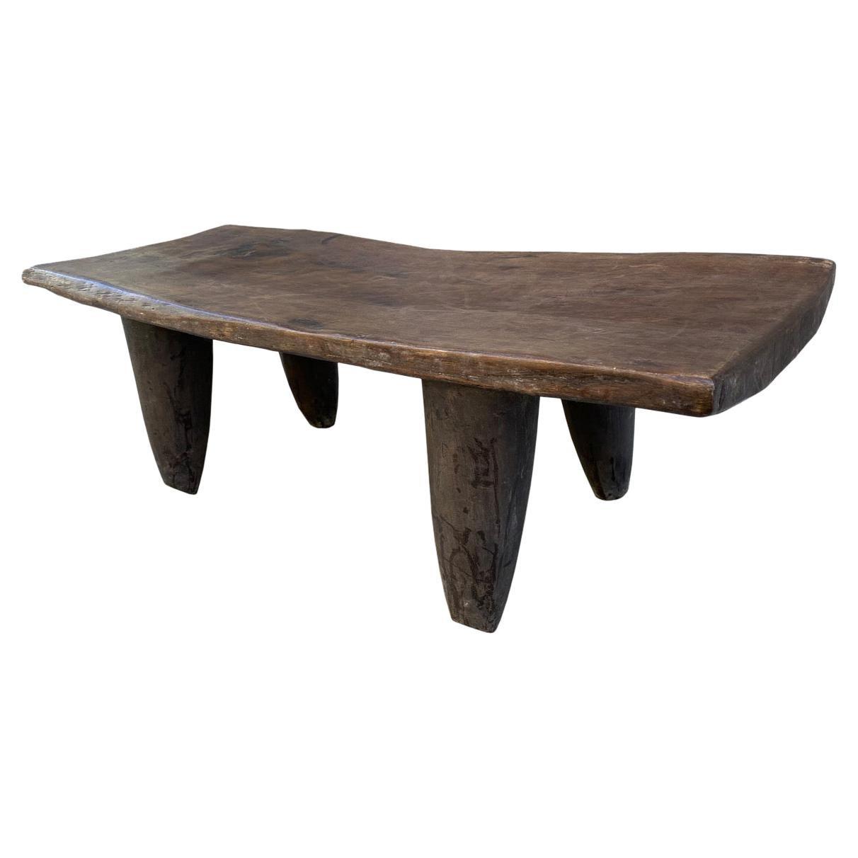Andrianna Shamaris Antique African Iroko Wood Senufo Coffee Table or Bench