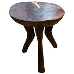 Andrianna Shamaris Antique African Mahogany Wood Sculptural Side Table