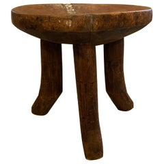 Andrianna Shamaris Antique African Mahogany Wood Sculptural Side Table or Bowl