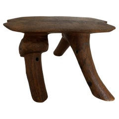 Andrianna Shamaris Antique African Wooden Head Rest or Stool