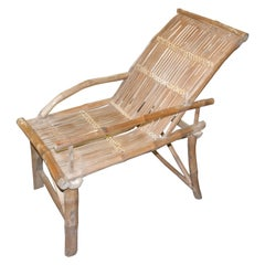 Andrianna Shamaris Antique Bamboo Wood Chair