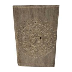 Andrianna Shamaris Antique Carved Teak Wood Panel