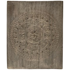 Andrianna Shamaris Antique Carved Teak Wood Panel