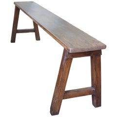 Andrianna Shamaris Antique Teak Wood Bench