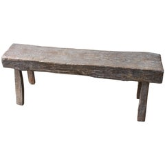 Andrianna Shamaris Antique Teak Wood Log Bench
