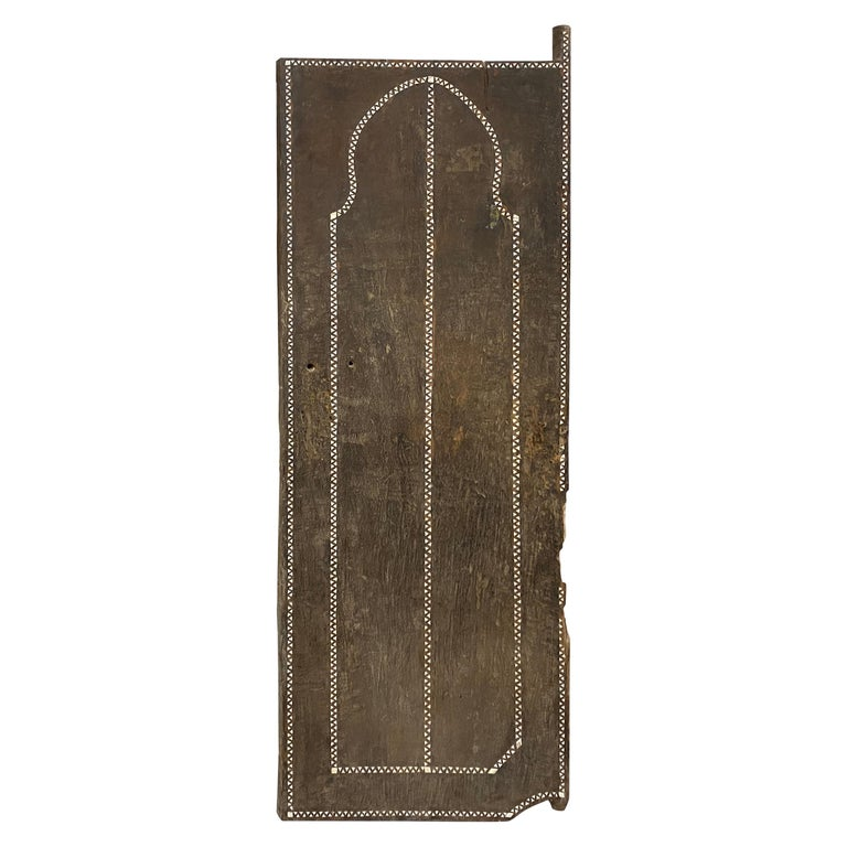 Andrianna Shamaris Antique Temple Door with Shell Inlay For Sale