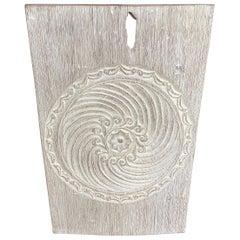 Andrianna Shamaris Antique White Washed Carved Panel