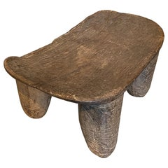 Andrianna Shamaris Antique Wood African Stool