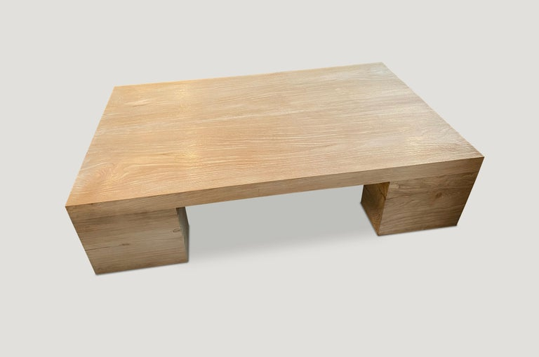 Impressive, large coffee table produced from reclaimed teak. New to 2021 and available in custom sizes and finishes. Shown: 60 x 36 x 15