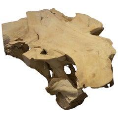 Andrianna Shamaris Bleached Teak Wood Coffee Table
