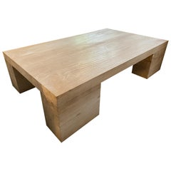 Andrianna Shamaris Bleached Teak Wood Coffee Table